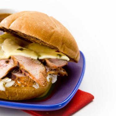 Carolina Pork Tenderloin BBQ Sandwich