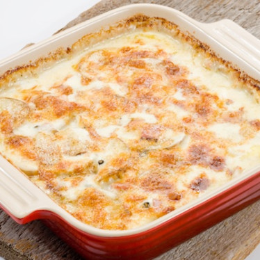 5 Peppercorn Raclette Scalloped Potatoes & Ham