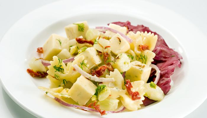 Saffron Pasta Salad with Dill Havarti