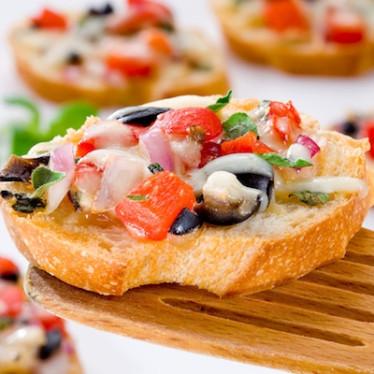 Raclette Tapenade Crostini