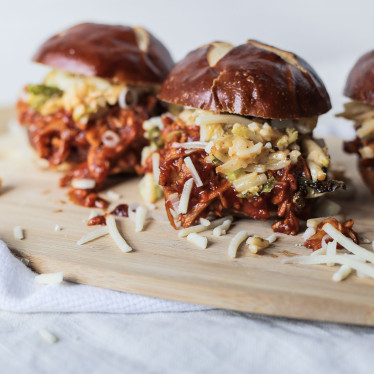 BBQ Sliders with Spicy Sprout Slaw